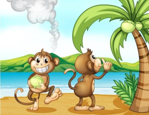 """שעת סיפור בספריה : """" לקוף יש בעיה"""""""